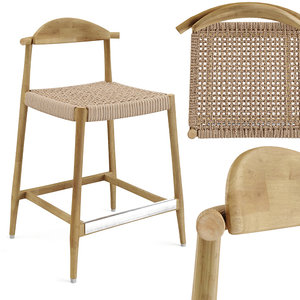 3D model nina bar stool seat