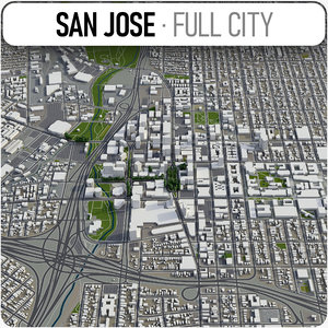 city san jose surrounding 3D model