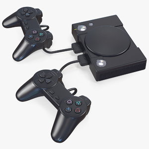 old gaming console controller 3D model