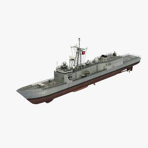 3D g class frigate model