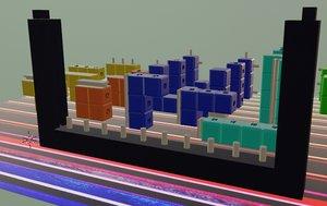 3D model tetris didactic