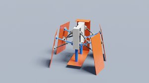 3D qbot rigged robot cube