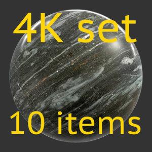 Stone black 4K Texture set 10 items