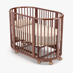 3D model baby bed betty