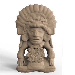 aztec sculpture 3D