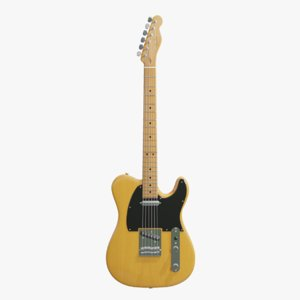 3D fender telecaster guitar