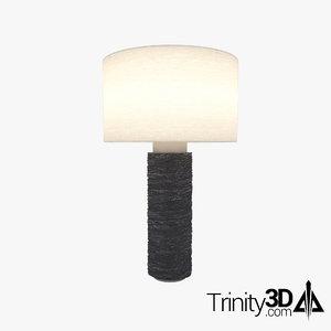 3D lamp displacement metal model