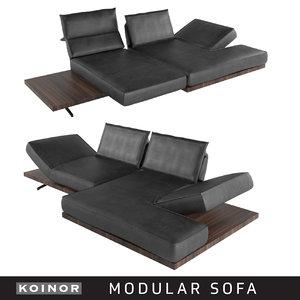 3D modular sofa koinor model
