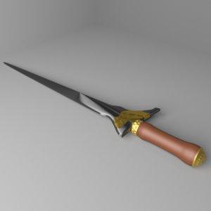 3D kris dagger 2