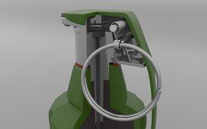 grenade mk2 hand 3D model