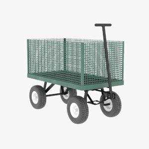 utility wagon tools 3D model