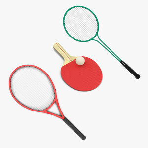 sport rackets 3D model