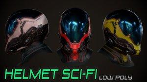 3D helmet sci-fi