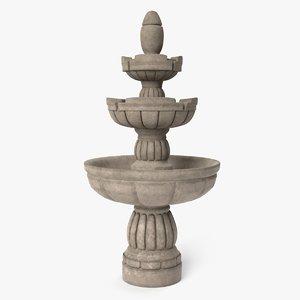3D fountain pbr