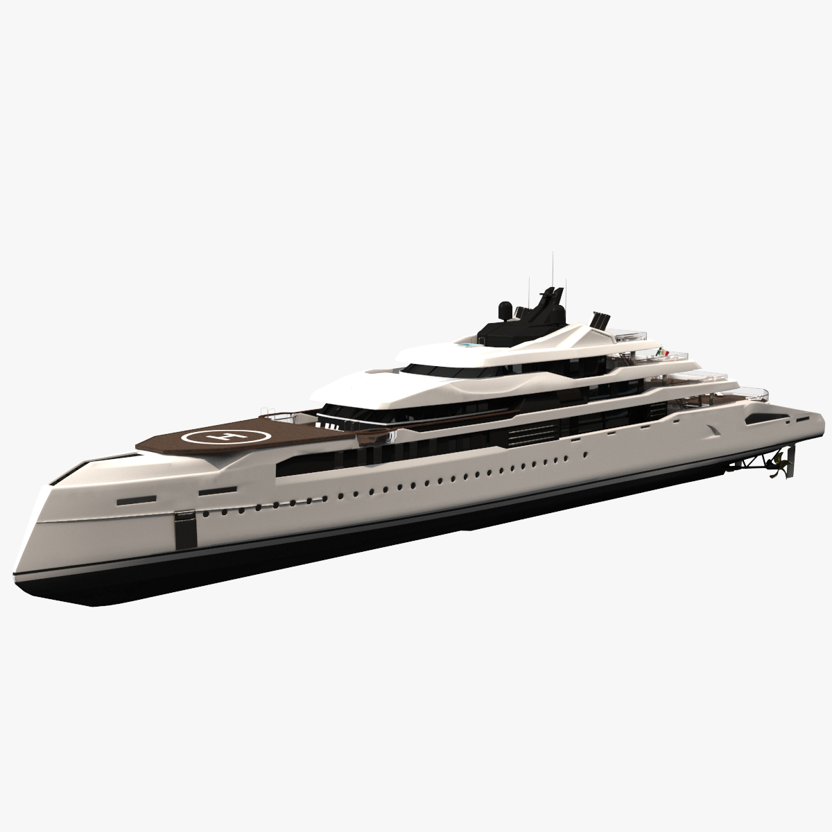 ganimede yachts dynamic simulation 3D model