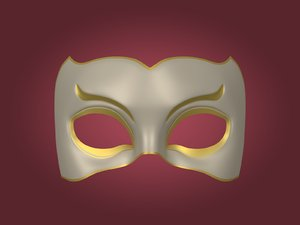 mardi gras mask 3D model
