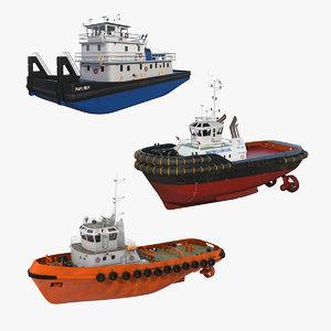 3D tug boats 2