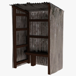 3D sheet metal shack model