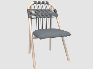 3D woven unam dining chair model