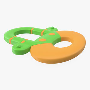 baby teething toy 2 3D model