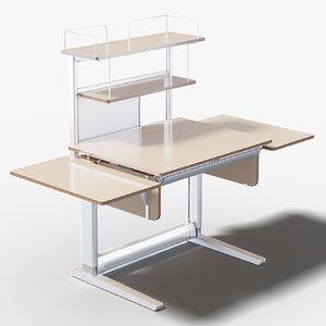 t5 desk 3D model