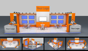exhibition stand 3D model