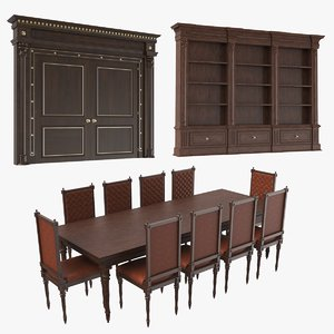 3D real classic furniture model