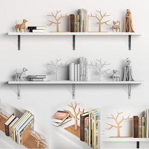 3D book bookend figurines
