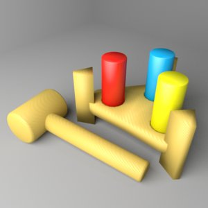 3D toddler toy - pinboard model