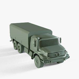 military cargo truck 3D