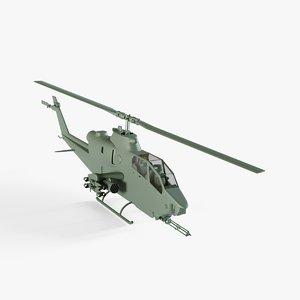 3D bell ah-1 cobra helicopter model