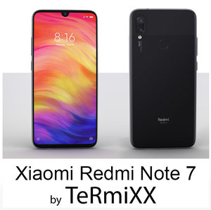 3D xiaomi redmi note 7 model