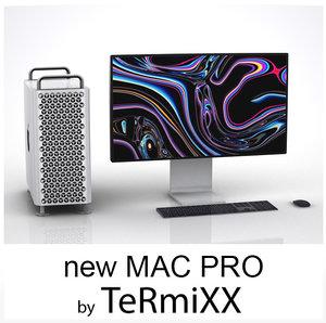 3D mac pro 2019 action