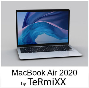 3D apple macbook 13 2020 model