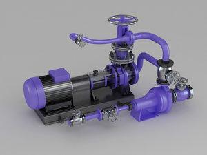 3D engine motor air pump