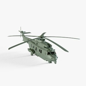 3D model eurocopter ec725 caracal