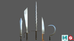 3D weapon gladius 2 model