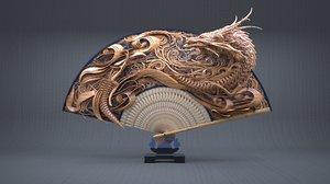 japanese dragons 3D model