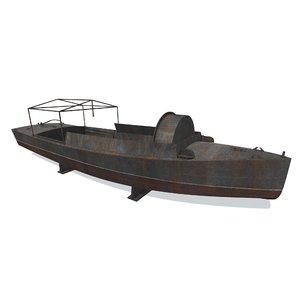 disassembled boat bk-2 3D