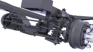 drive rear axle 3D model