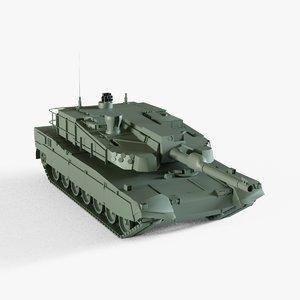 3D k2 black panther tank model