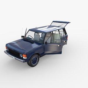 3D model rover range rhd interior