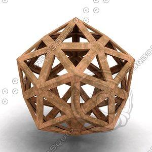 3D model dodecaedron epirmenon cenon