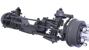 drum spring parts 3D model