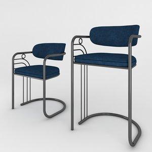 3D chair art stool