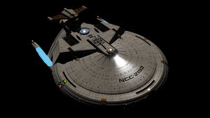 federation starship lilith classes 3D