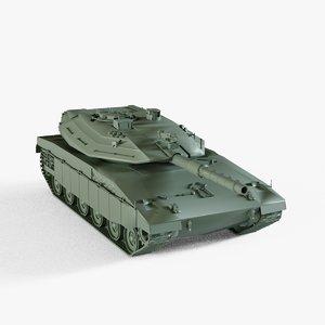 3D merkava tank model