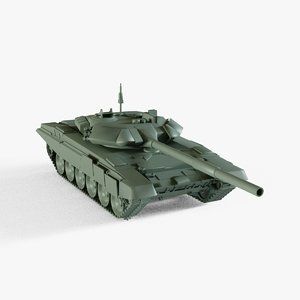 3D model t-90 tank