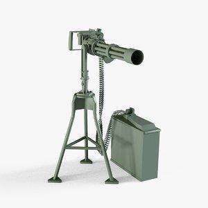3D m134 minigun model