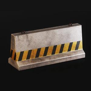 3D concrete barrier